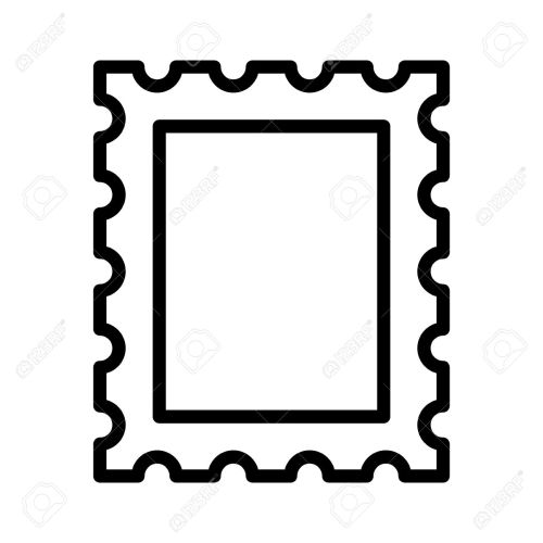 small resolution of 1300x1300 postage stamp or letter stamp line art icon royalty free cliparts