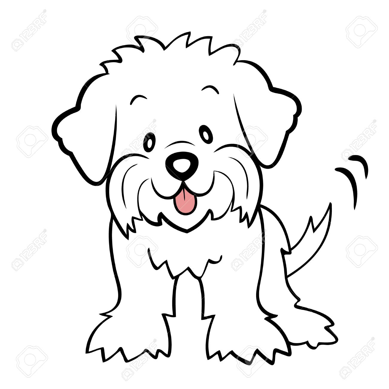 hight resolution of 1300x1300 puppy cut maltese isolated royalty free cliparts vectors