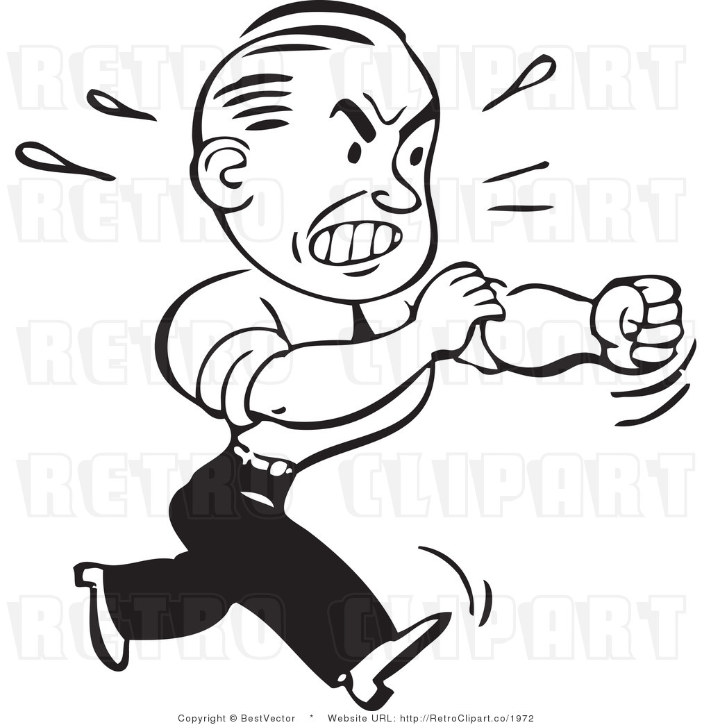 Man Clipart Black And White
