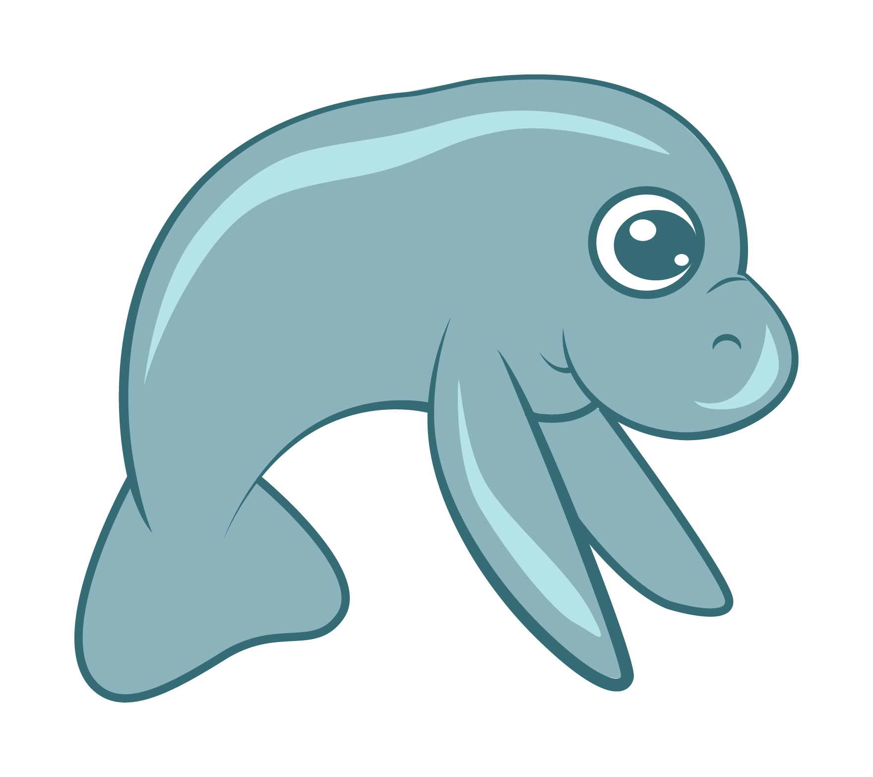 hight resolution of 1760x1566 dugong clipart