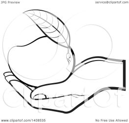 mango clipart holding hand lineart illustration royalty vector lal perera clipartmag