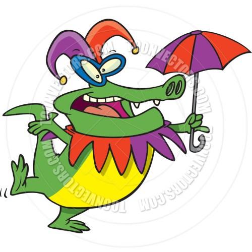 small resolution of 940x940 cartoon mardi gras gator by ron leishman toon vectors eps