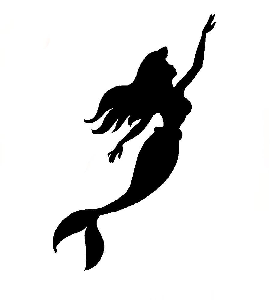 mermaid outline free download
