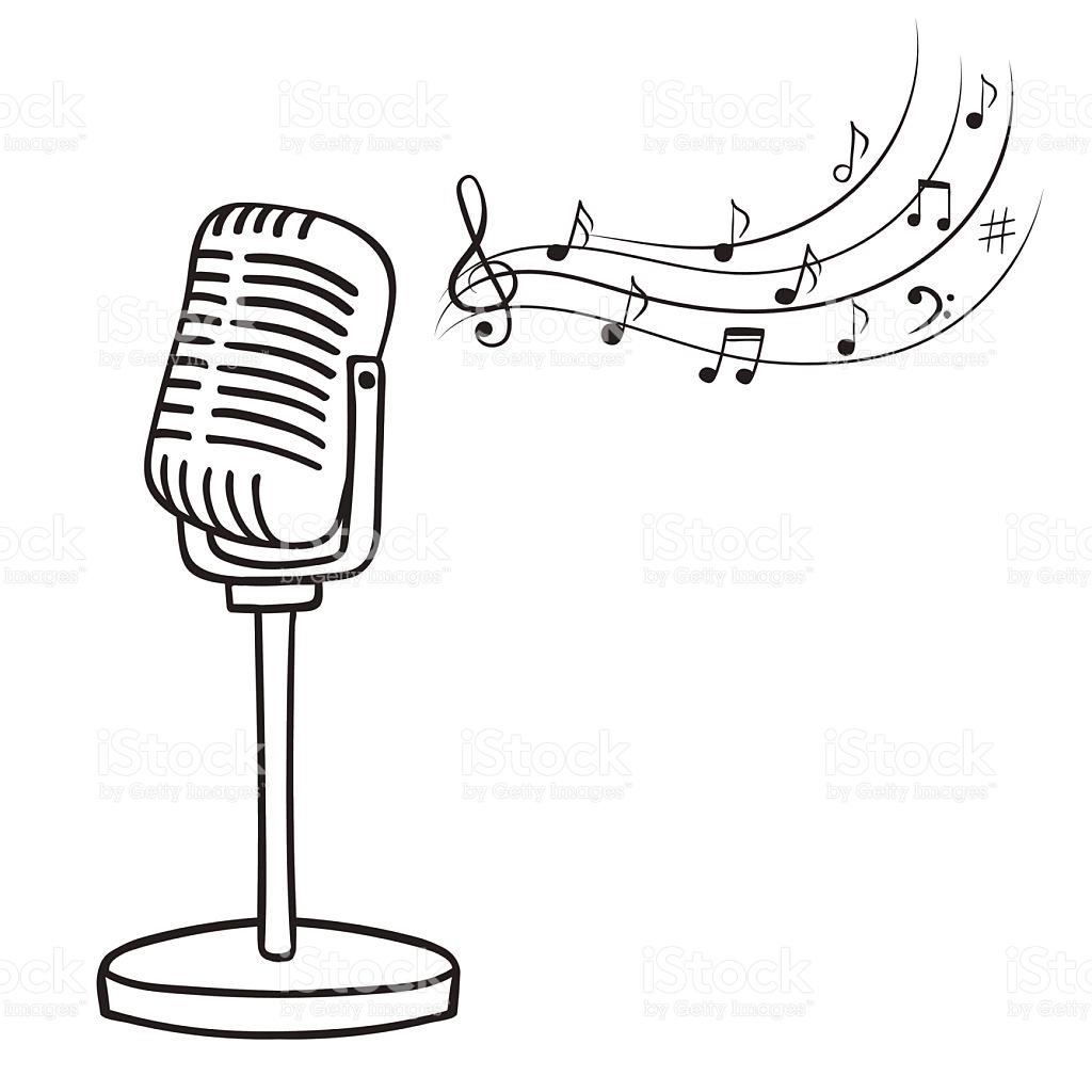 Microphone Clipart Black And White