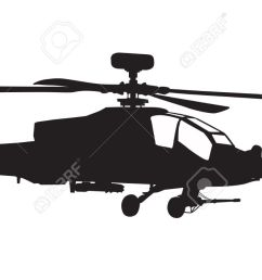 1300x707 vector silhouette of ah 64 apache longbow helicopter stock photo [ 1300 x 707 Pixel ]