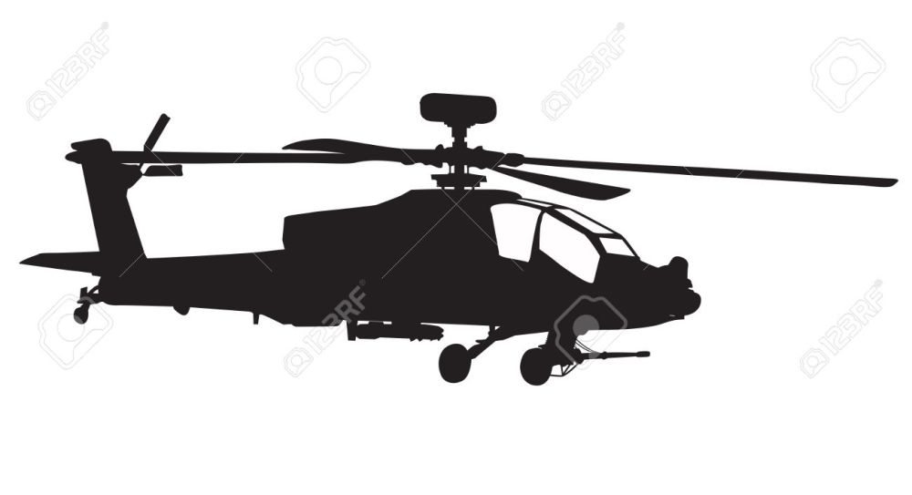 medium resolution of 1300x707 vector silhouette of ah 64 apache longbow helicopter stock photo