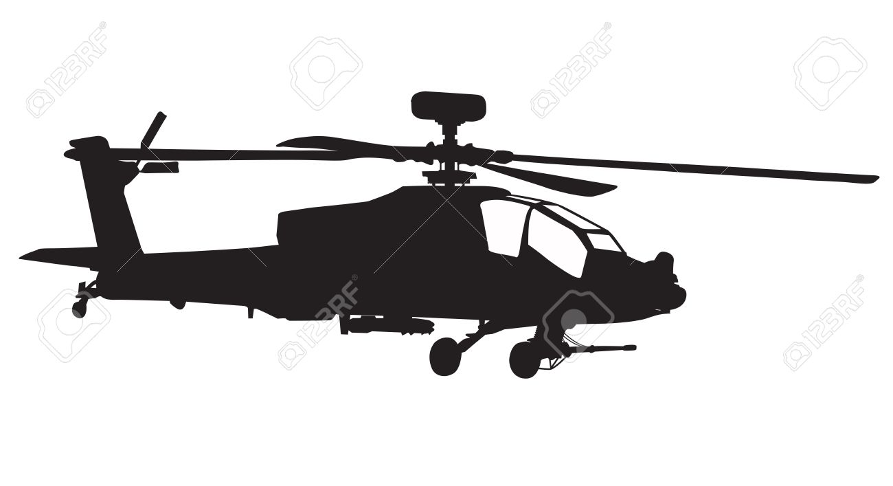 hight resolution of 1300x707 vector silhouette of ah 64 apache longbow helicopter stock photo