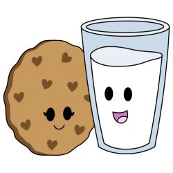 milk cookies clipart cute drawings cookie happy smiley clip together faces bff drawing kawaii goes food cliparts clipartmag nothing smiling