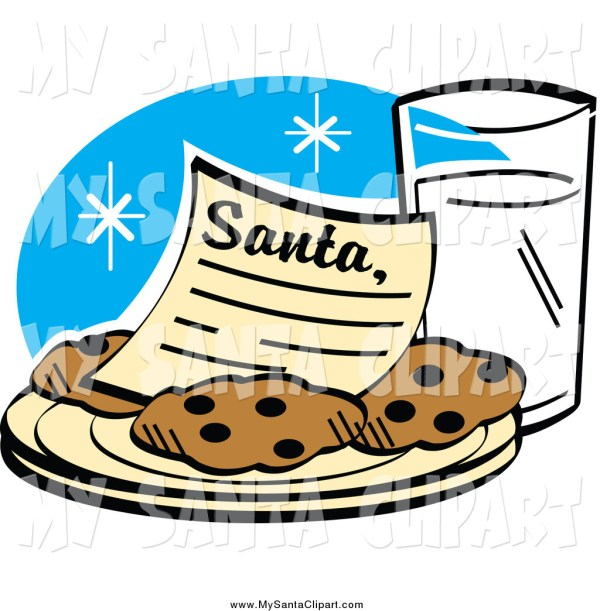 milk and cookies clipart free