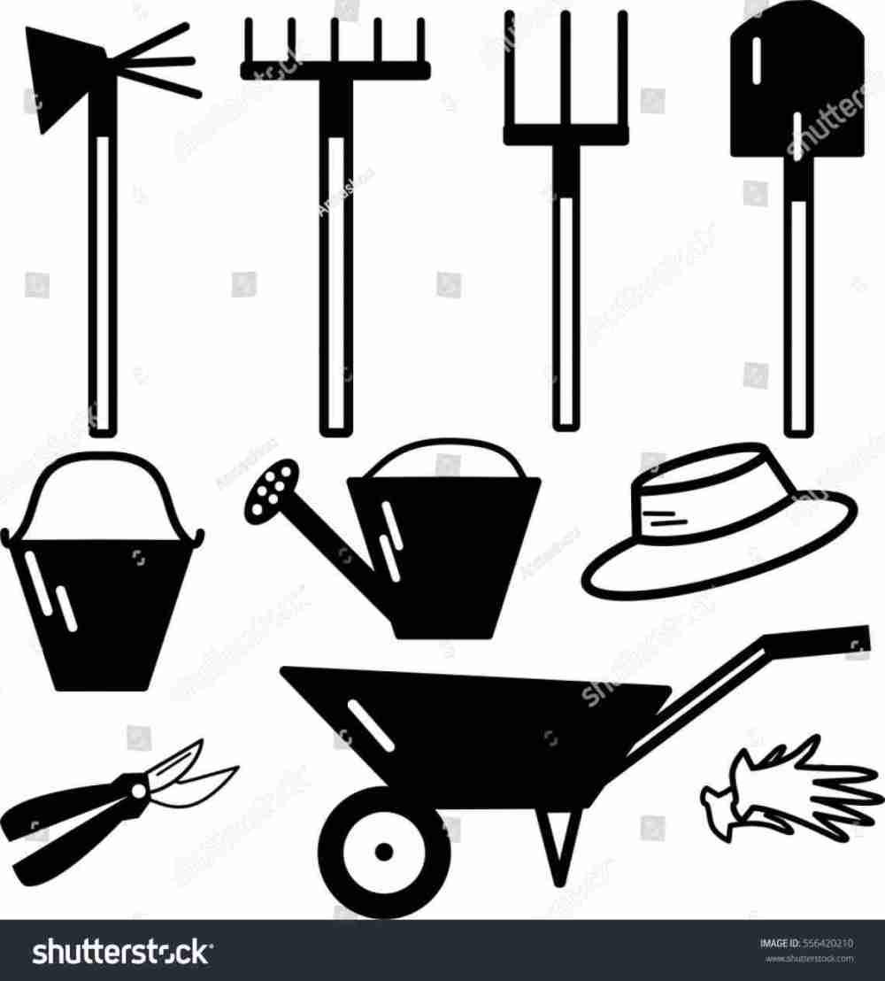 medium resolution of 1140x1264 farmer milk can stock vector shutterstock stock garden tools clip