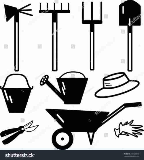 small resolution of 1140x1264 farmer milk can stock vector shutterstock stock garden tools clip