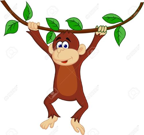 small resolution of 1300x1215 monkey banana clip art image