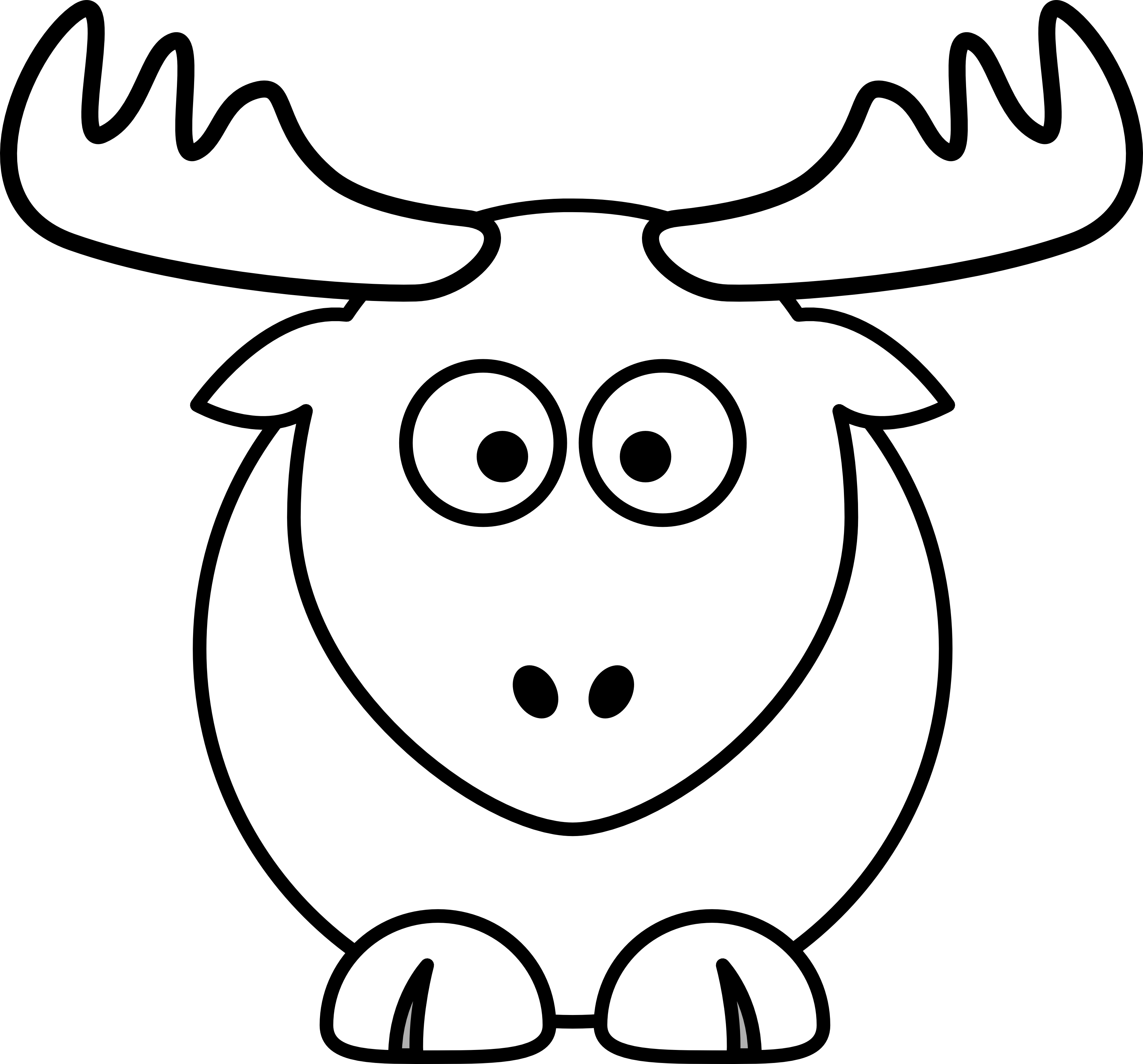 Moose Clipart Black And White