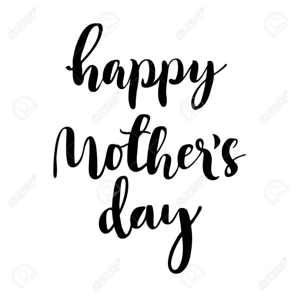 medium resolution of 1300x1300 happy mother s day calligraphic lettering isolated black letters