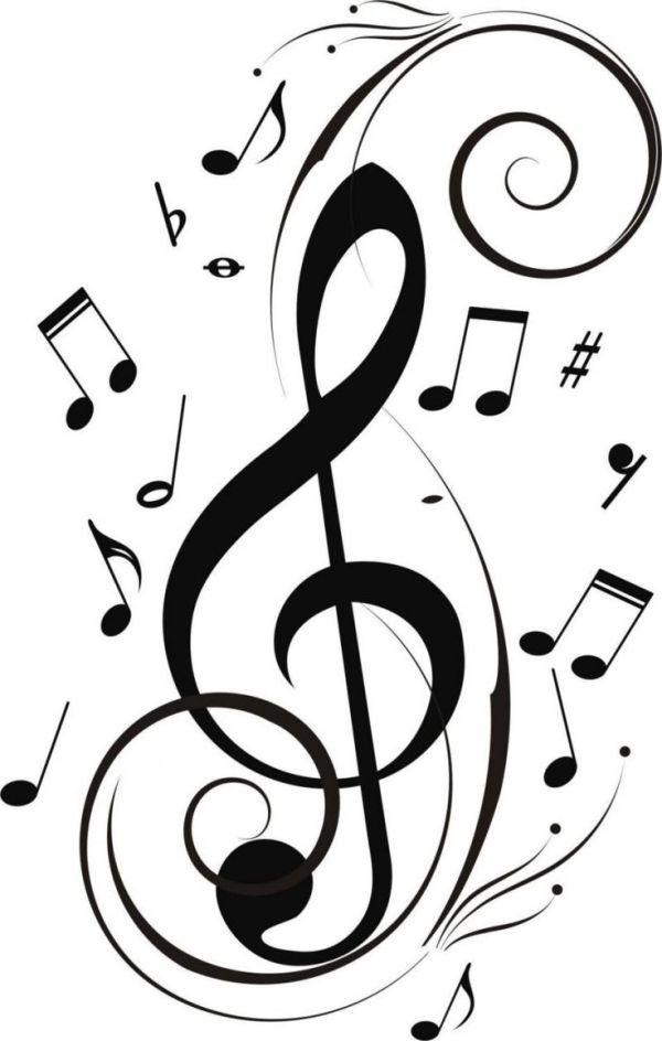music note border microsoft