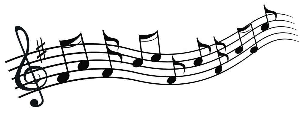 medium resolution of 2184x843 chic design musical clipart music notes clip art free note image 1