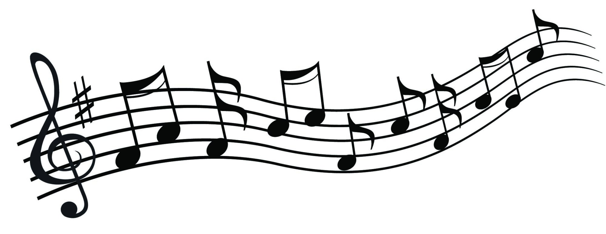 hight resolution of 2184x843 chic design musical clipart music notes clip art free note image 1
