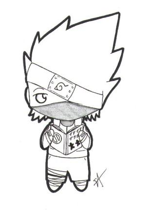 naruto easy draw drawing kakashi anime clipartmag installer