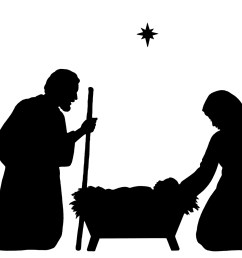 nativity scene clipart black and white [ 1600 x 1148 Pixel ]