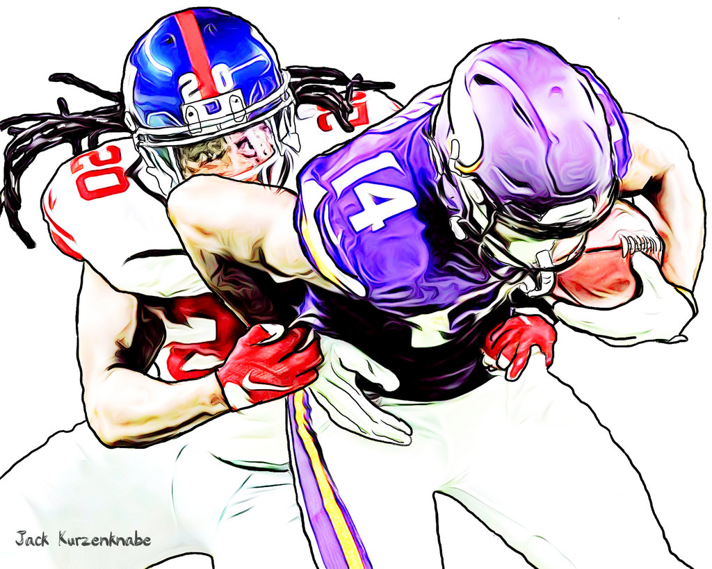 hight resolution of nfl football player drawings