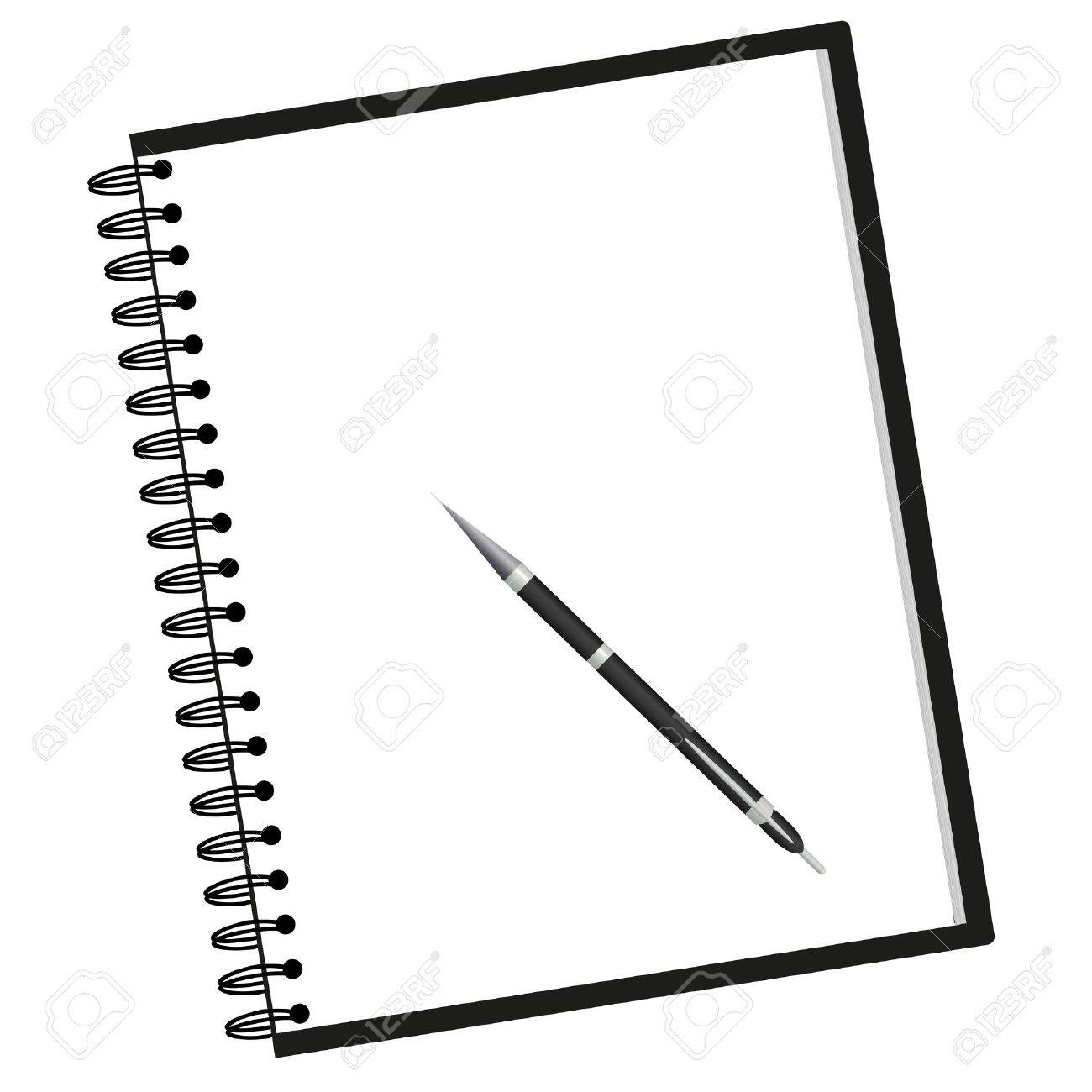 notebook clipart black and
