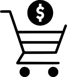 shopping icon cart payment dollar svg trolly clipart sign currency clipartmag onlinewebfonts