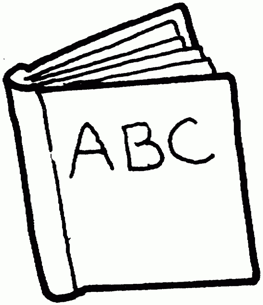 hight resolution of 884x1024 reading book clipart black and white
