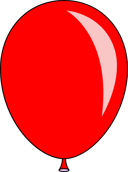 orange balloon clipart free