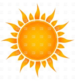 1200x1200 simple sun royalty free vector clip art image [ 1200 x 1200 Pixel ]