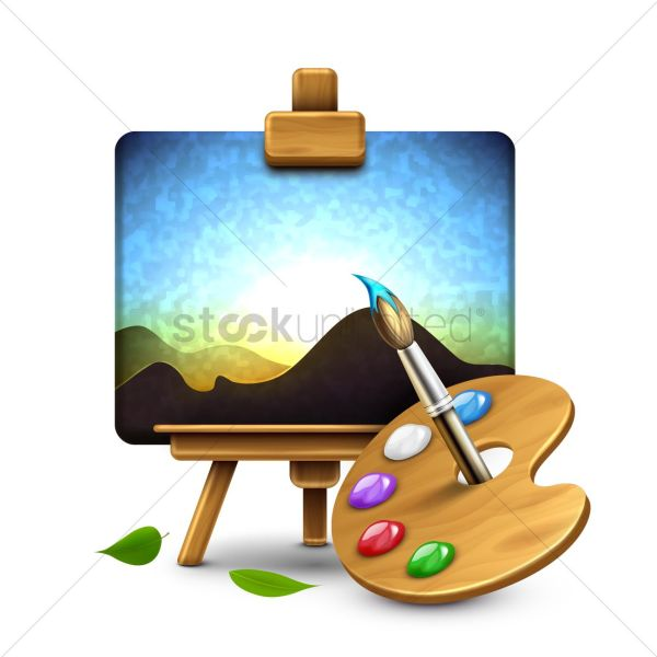 Painting Easel Clipart Free