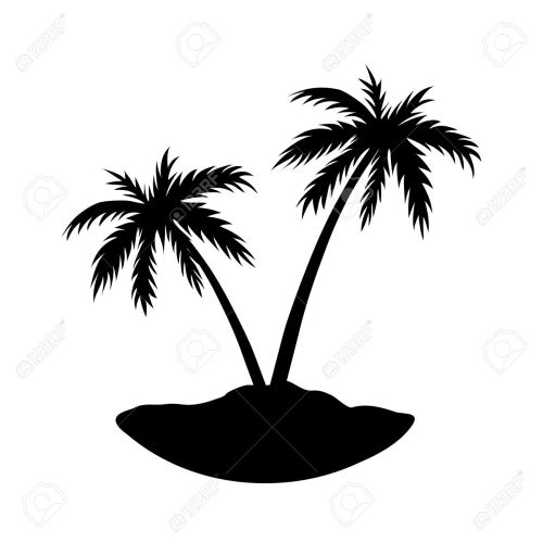 small resolution of 1300x1300 black clipart coconut tree
