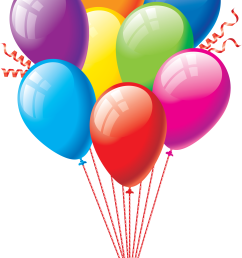 1454x2500 colorfull party balloons clipart [ 1454 x 2500 Pixel ]