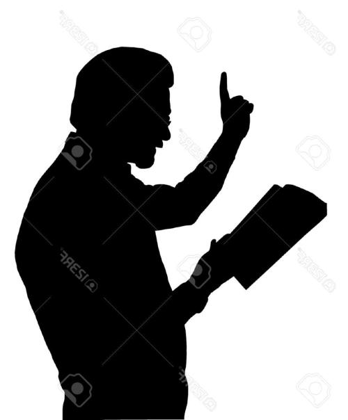 small resolution of 1075x1300 best people silhouette clipart pastor preaching library