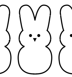 1422x907 bunny outline clipart [ 1422 x 907 Pixel ]