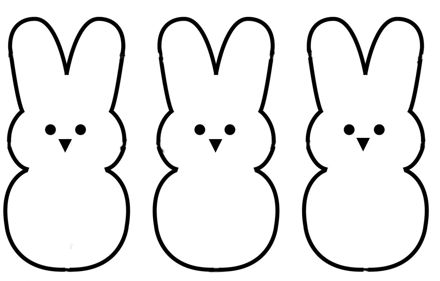hight resolution of 1422x907 bunny outline clipart