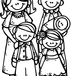 1101x1600 image of family clipart black and white [ 1101 x 1600 Pixel ]