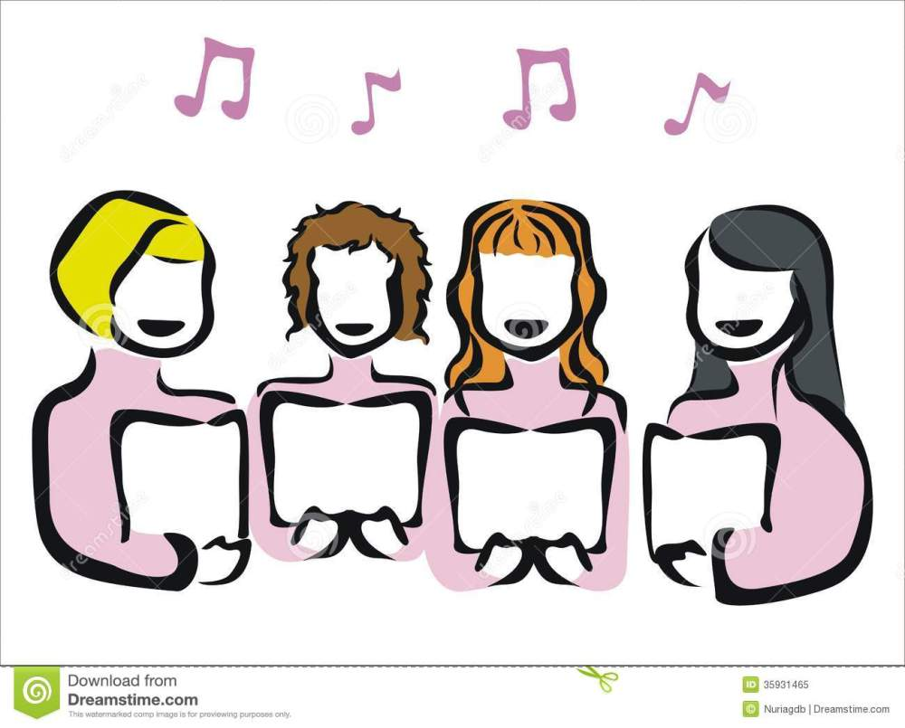 medium resolution of 1300x1047 choir clipart