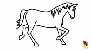 horse easy horses drawing simple drawings head cartoon draw clipartmag getdrawings clip ganesh realistic