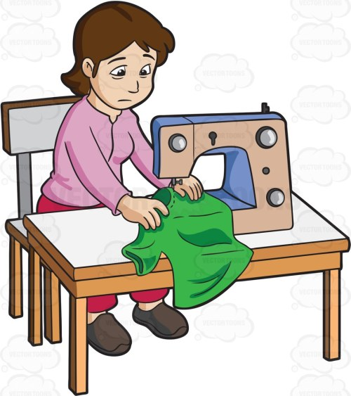 small resolution of 909x1024 a female sweatshop worker sewing a shirt cartoon clipart