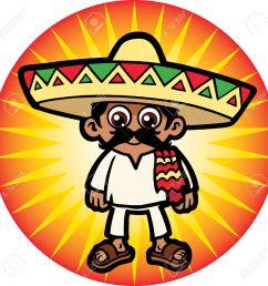 1300x1300 24304976 mexican man stock vector mexican sombrero cartoon jpg [ 1300 x 1300 Pixel ]