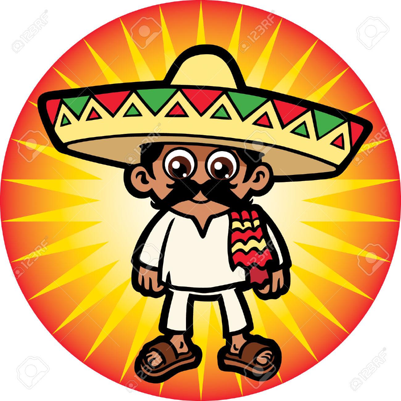 hight resolution of 1300x1300 24304976 mexican man stock vector mexican sombrero cartoon jpg