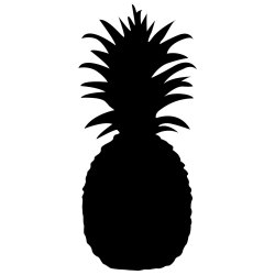 Silhouette Pineapple Outline