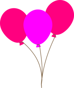pink balloon clipart free