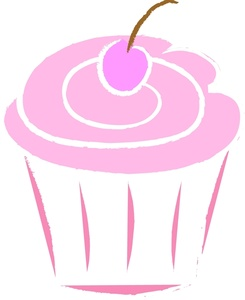 pink cupcake clipart free