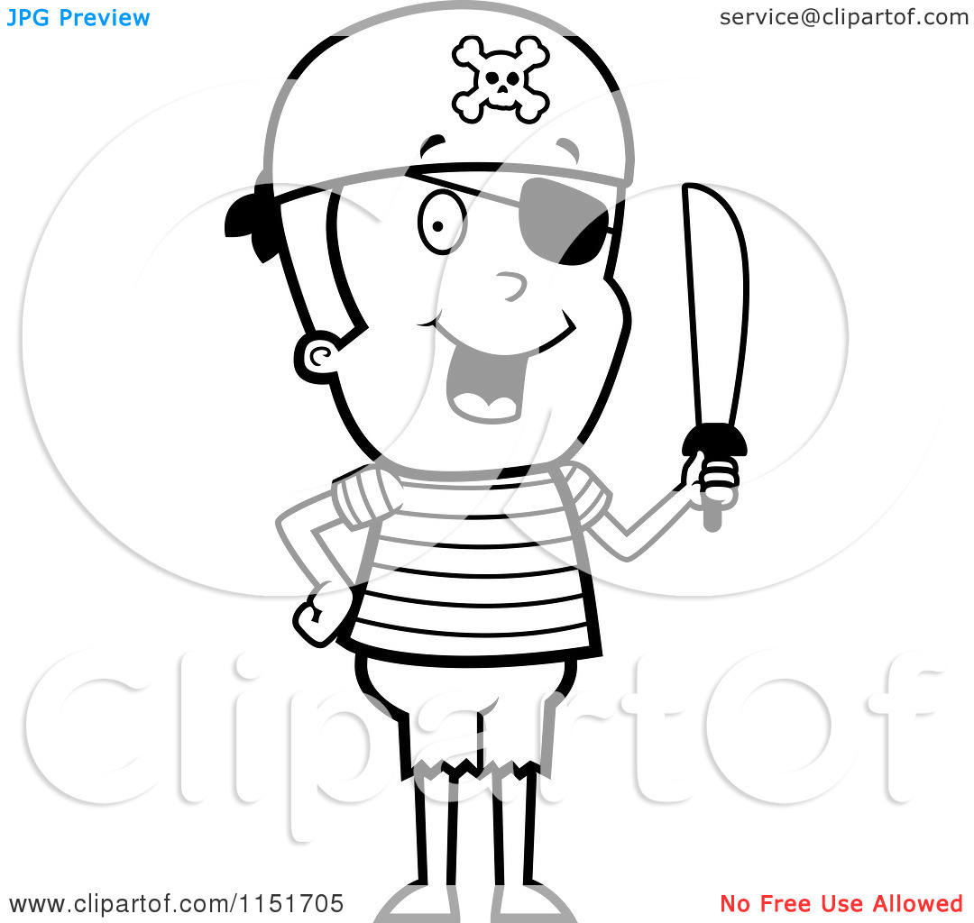 Pirate Clipart Black And White