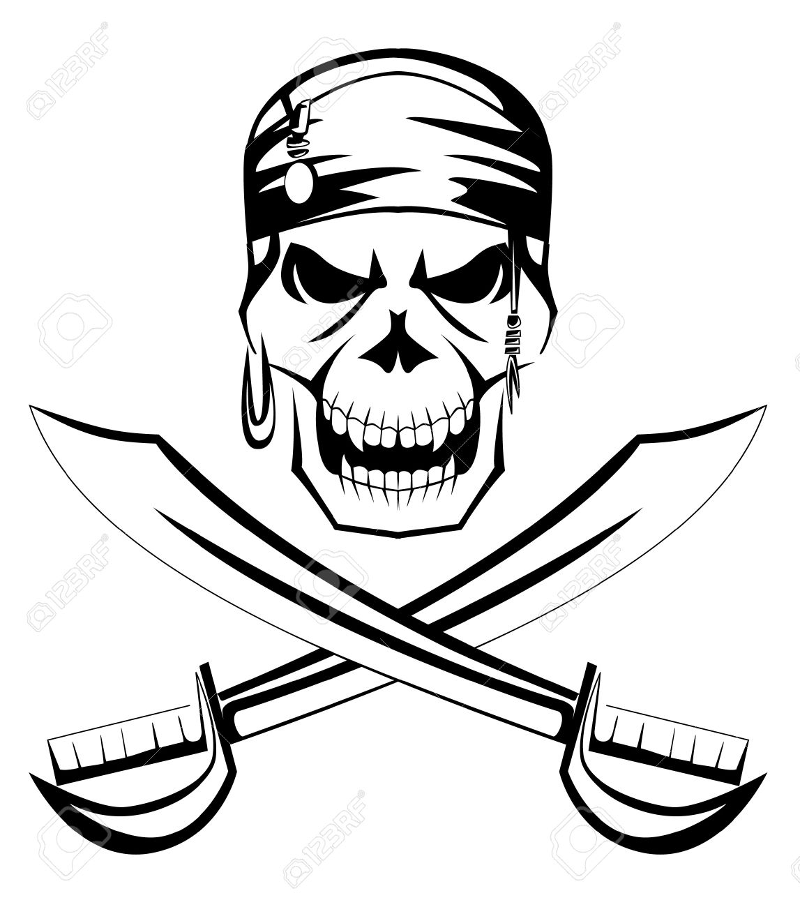 Pirate Clipart Black And White