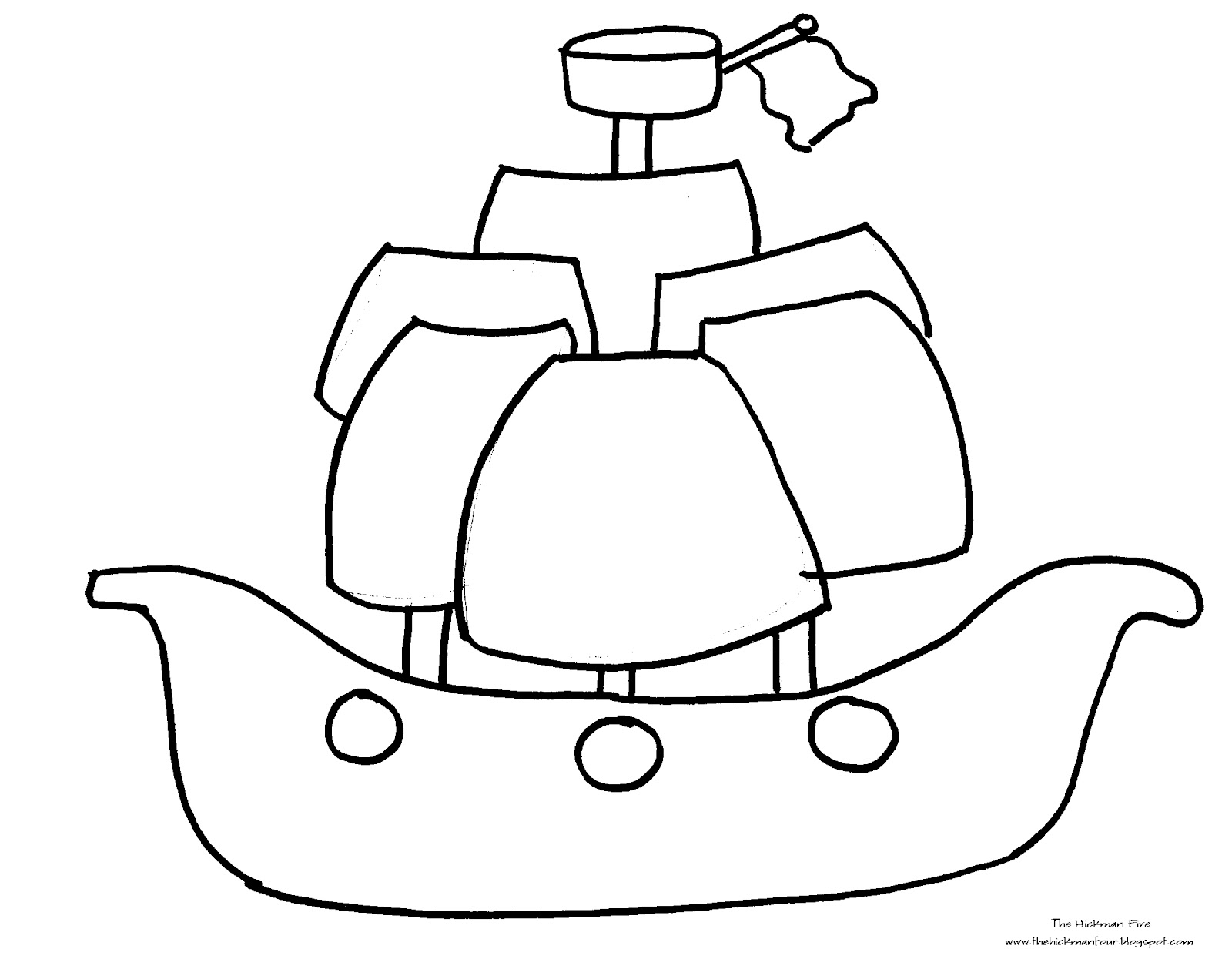 Pirate Ship Outline