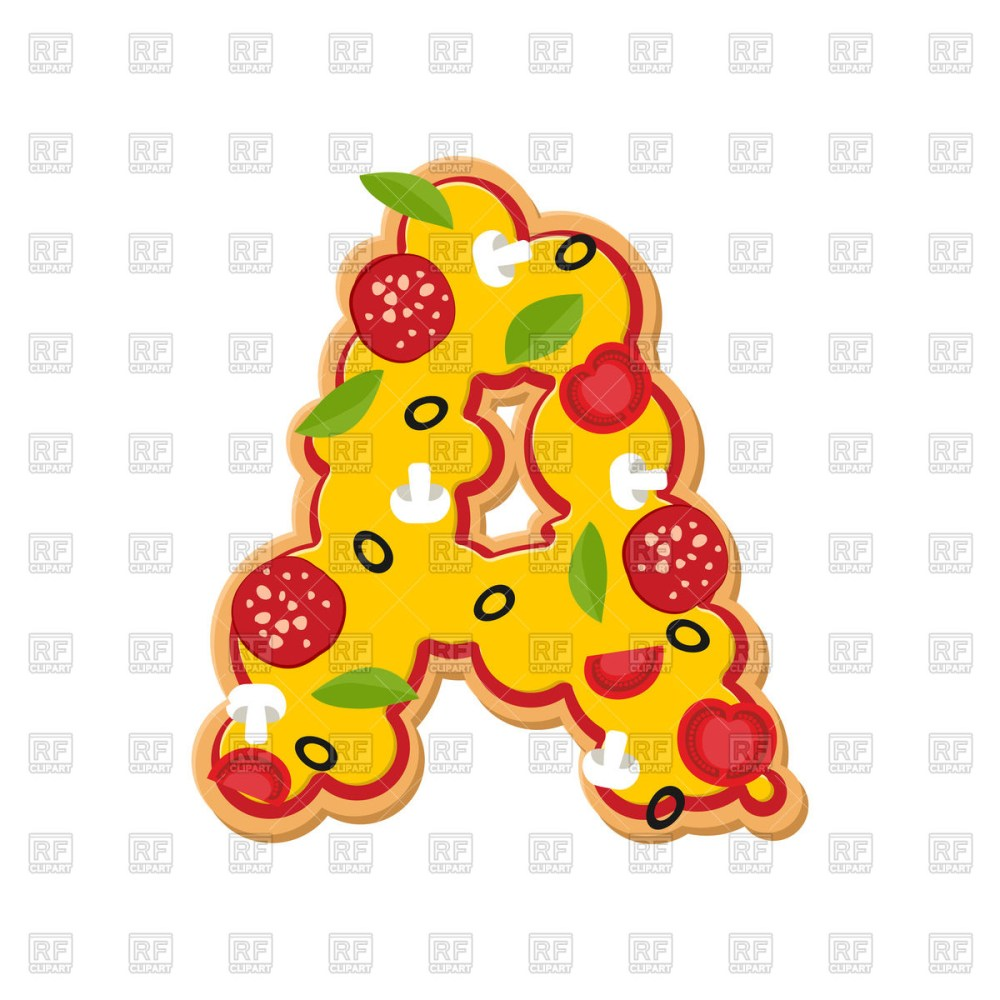 medium resolution of 1200x1200 letter a pizza font royalty free vector clip art image