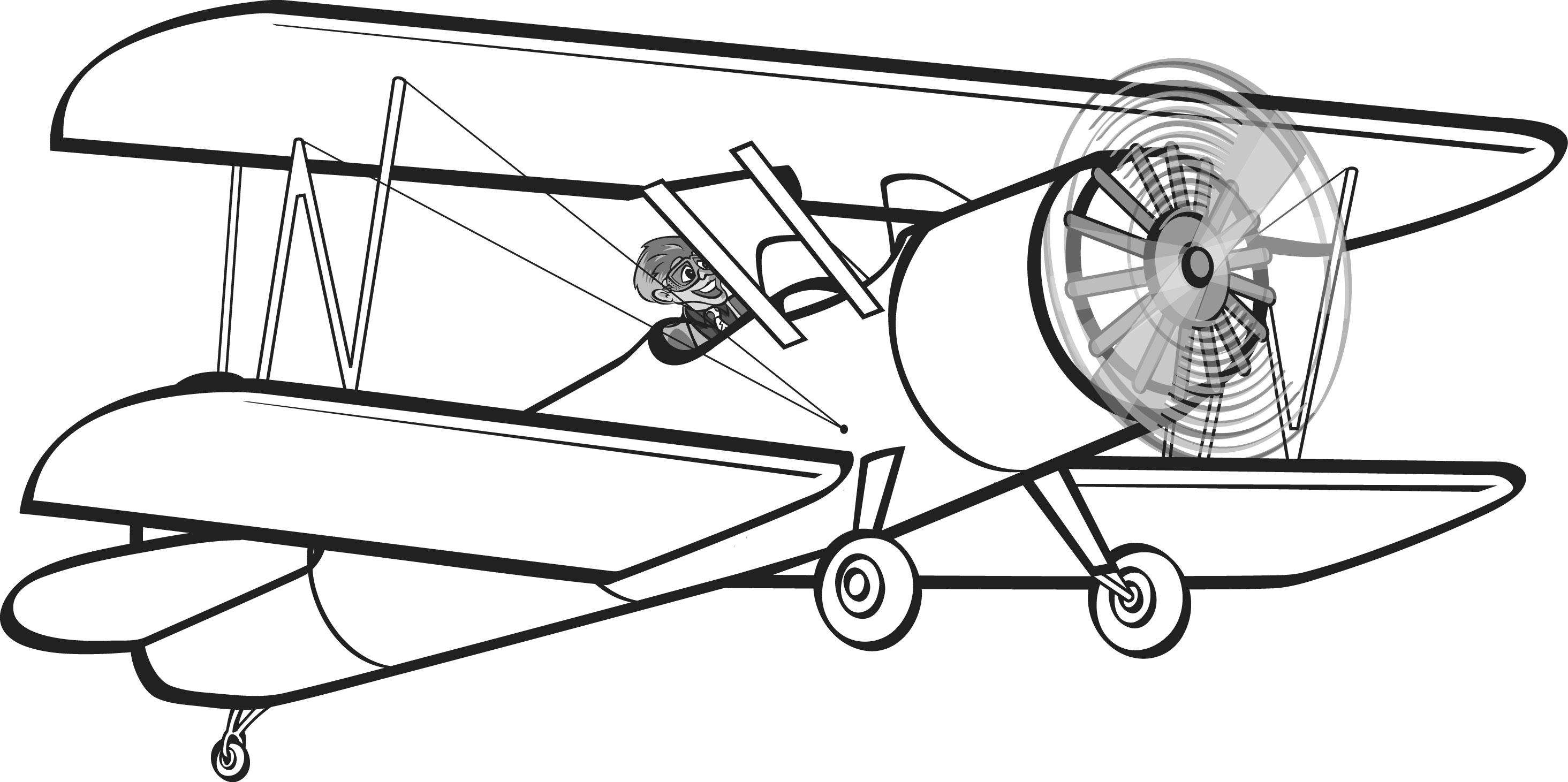 Plane Clipart Black And White