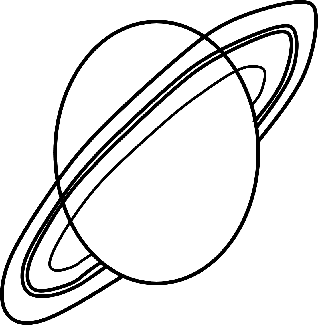 Planet Clipart Black And White
